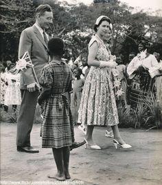 Queen Elizabeth II, Kaduna, Nigeria in 1956.