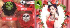 Skull Rose Brooch by Kreepsville 666