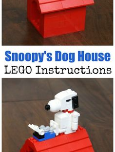 Snoopy and his Dog House LEGO Building Instructions