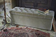 The sofa.com Valentin blanket box in Smoke cotton velvet - $760