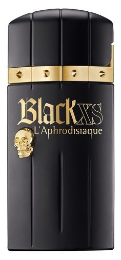 Black XS L'Aphrodisiaque: a limited edition with a hidden, illicit and captivating side. - Parfumerie et parapharmacie - Parfumeries - Paco Rabanne Parfum Chic, Gold Fashion, Mens Fashion, Men's Cologne, Paco Rabanne, Smell Good, Men's Style, Black Gold, Perfume Bottles