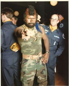 A Mr-T look-alike motivates 1988 #OlympicArena competitors. #YearoftheSACAlertForce