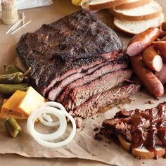 Make sure you use a smoker to get all of the flavor out of this Texas style beef brisket recipe from Taste of the South Magazine.