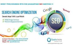 Quadra Incorp a team of web development, web design, and online marketing specialists with over 5 years of combined experience to offer you the best in web solutions and online marketing services in Bangalore, India and all over a world.      Quadra Incorp is complete IT and web solution company in Delhi, India. We offer services like Website Designing, Website Development, Search Engine Optimization (SEO), Social Media Marketing (SMM) and Customized Software's, Mobile application, ...