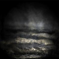 Water and sky meet in a wall of Black...Sophia Szilagyi, Dark sea,2013