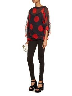 Shop our edit of women's designer Tops from luxury designer brands at MATCHESFASHION Polka Dot Print, Polka Dots, Vivienne Westwood Anglomania, Skin Tight, Silk Top, Style Me, Tights, Women Wear, Blouse