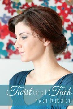 twist and tuck hair tutorial
