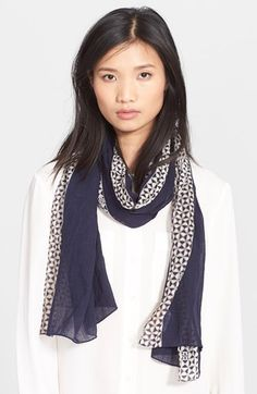 Tory Burch Mosaic Tile Border Scarf available at #Nordstrom