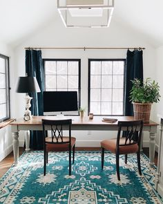 Ideas for office design Home Office Featuring Geometric Medallions And Traditional Bordered Design This Rug Brings Bohemianchic Look To Any Room We Love The Saturated Blue Pinterest 323 Best Home Office Ideas Images In 2019 Desk Ideas Office Ideas