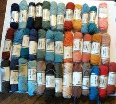 Elsa Williams  49 Skeins 32 Colors Listed 100% Wool 40 Yards 36.6 Meters Each #ElsaWilliams