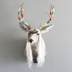 New Yarn Wrapped, Altered Taxidermy Art for We Got Game Series via Cast & Crew on Fab.com March 11-18.