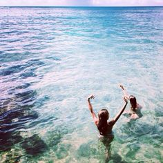 Be in the crystal clear water