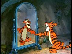 Tigger chatting up his reflection
