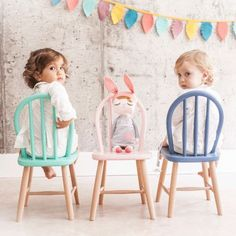 We're loving these painted chairs - turns out these tots probably do too!