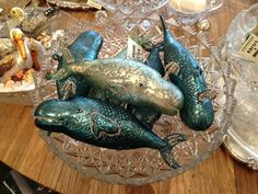 Cute whale ornaments, Sesame and Lillies