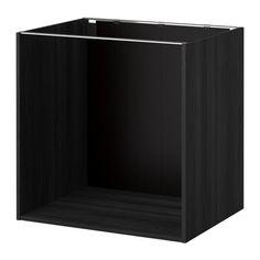 KJØKKEN METOD Benkeskapstamme - tremønstret svart, 80x60x80 cm - IKEA