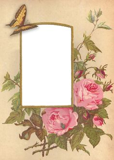 Victorian Roses Photo Album PNG Frames ~ WingsofWhimsy