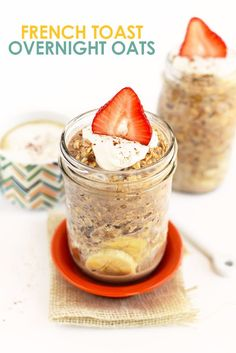 Have your french toast and oatmeal too. Make Maple French Toast Vegan Overnight Oats for an easy, make-ahead breakfast that's packed with maple and cinnamon flavor! This healthy vegan overnight oats recipe is high in fiber and whole grains. Oats Recipes, Cooking Recipes, Freezer Recipes, Freezer Cooking, Drink Recipes, Cooking Tips, Vegan Overnight Oats, Healthy Snacks, Healthy Recipes