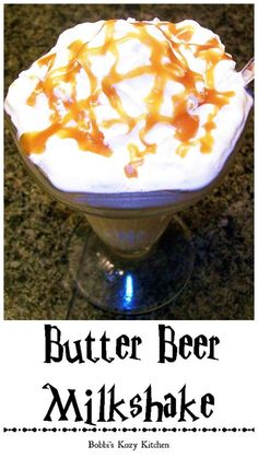 Butter Beer Milkshakes - Satisfy your little (or not so little) Harry Potter fans by whipping up a batch of these fabulous milkshakes. | From www.bobbiskozykitchen.com