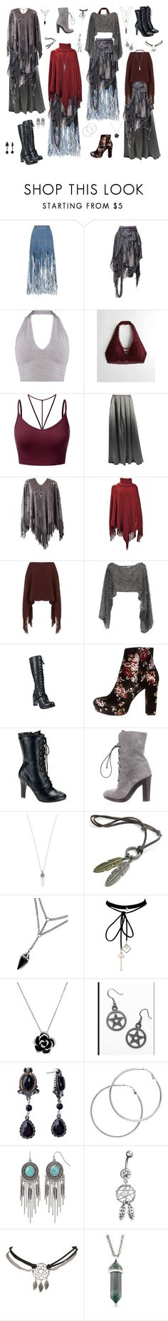 """Slum Angels"" by valaquenta ❤ liked on Polyvore featuring Ksenia Schnaider, Bohemian Society, Hollister Co., J.TOMSON, Valentino, Miss Selfridge, Charlotte Russe, Demonia, Reed Krakoff and Marc Jacobs"