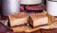 Rezept für leichte Low Carb Schoko-Schnitten: Die kalorienarmen Schoko-Schnitten werden ohne Zucker und Getreidemehl gebacken. Sie sind kohlenhydratarm, enthalten viel Eiweiß ...
