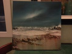 Finished this seascape today. My Arts, It Is Finished, Painting, Painting Art, Paintings, Painted Canvas, Drawings
