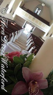 Flora Decor Wedding & Events Flowers Waterford : Louise and John's Faithlegg Church Wedding, Co Waterford. Decor Wedding, Wedding Events, Wedding Decorations, Table Decorations, St Nicholas Church, Church Wedding, Flora, Beautiful, Marriage Decoration
