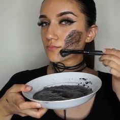 "EGG WHITES AND CHARCOAL FACE MASK  TO MINIMIZE PORES AND GET RID OF ACNE !!! BENEFITS ⤵️ ▫️EGG WHITES ▫️ - ""have astringent properties that help shrink pores by tightening the skin"" and let me tell you it definitely TIGHTENS THE SH** out of your face !  ▪️ACTIVATED CHARCOAL▪️ - helps minimize pores and pulls out all the dirt out of your pores ❗️Believe it or not Eating a raw egg is more beneficial than eating a cooked one ❗️ ❗️ Disclaimer : if you are allergic to any of these items/ ingre..."