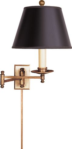 visual comfort dorchester swing arm wall lamp in antique burnished brass height 15 cb2 swing arm brass wall