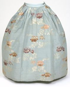Blue silk with floral design petticoat from a two-piece gown, English, 1740s  © CSG CIC