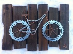 130 Most Inspiring Bicycle Parts Art Images In 2019 Bicycle Art