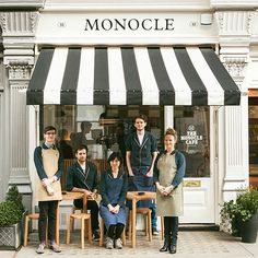 The Monocle Café: London … great color combo, well designed website, especially the menu bar positioned at the bottom!