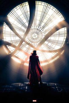 Póster Doctor Strange, ventana. Marvel  Póster basado en la película Doctor Strange.