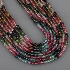 5 Strands Rose Quartz 2mm Faceted Center Drill Rondelles Rose Quartz Gemstone Beads 13 Inches Long