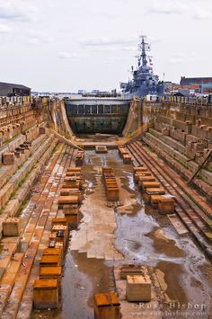 Dry dock at the USS Constitution Museum on the Freedom Trail, Charlestown Navy Yard, Boston, Massachusetts