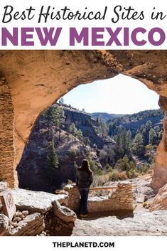 If you're planning a vacation to New Mexico, you should consider visiting some of the many historical sites in the state. Just one of the several charms that make New Mexico such a culturally rich area to explore. | Blog by the Planet D #Travel #NewMexico | New Mexico Travel | New Mexico Road Trip | New Mexico Beautiful Places | New Mexico Bucket Lists New Mexico Road Trip, Mexico Vacation, Mexico Travel, Travel Pictures, Travel Photos, Travel Tips, America And Canada, North America, Us Travel Destinations