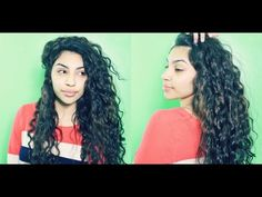 Curly Hair Routine UPDATED (Curly Penny) - YouTube