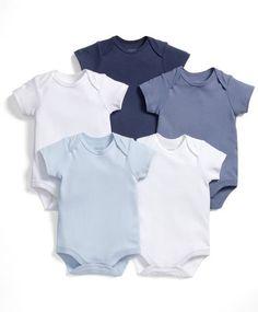 Short Sleeved Bodysuits (Set of 5)