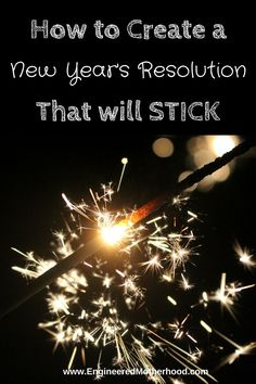 Tips on how to set a New Year's Resolution that you can Achieve!