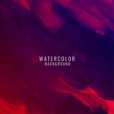 Dark red abstract background with watercolor texture Free Vector