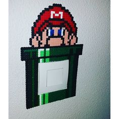 Mario light switch frame hama beads by princessegeekfr