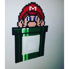 Mario light switch frame hama beads by princessegeekfr