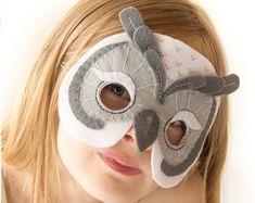 Kids Owl Mask Pattern. Costume sewing pattern.