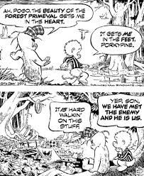 I used to have some small collections of pogo strips in paperback, falling apart that I had picked up in a secondhand store.  Walt Kelly strip was topical a commentary and satire of the times, with a rich collection of characters, using a number of ahead of his times techniques in his portrayal.