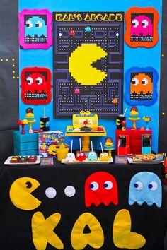 Dessert Table from a Pac Man Themed Birthday Party via Kara's Party Ideas | KarasPartyIdeas.com (4)