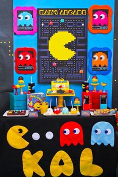 Dessert Table from a Pac Man Themed Birthday Party via Kara's Party Ideas | KarasPartyIdeas.com (4)