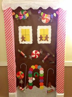 candyland craft ideas the snow globe family door decorating competition we 1221