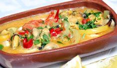 Μύδια σαγανάκι Greek Beauty, Better Life, Thai Red Curry, Cantaloupe, Mashed Potatoes, Seafood, Food Porn, Cooking Recipes, Fish
