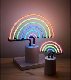 Asda home Sunnylife Vegas Rainbow Neon Lights Neon Lights Bedroom, Neon Sign Bedroom, Bedroom Lighting, Bedroom Lamps, Bedroom Ideas, Rainbow Bedroom, Rainbow Nursery, Rainbow Light, Neon Rainbow