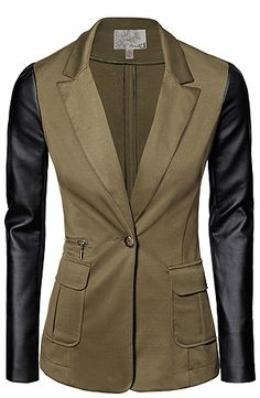 green and black blazer. Fashion 101, I Love Fashion, Fashion Outfits, Stylish Clothes For Women, Online Shopping Clothes, Blazers, My Style, Jackets, How To Wear